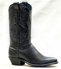 Women's 11 inch Black Garment Cowhide Abilene Boot 9050