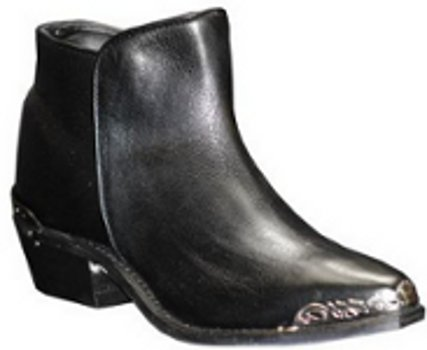 Women's Sage 4565 Black Demi-Boot with Metal Rands