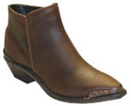 Women's Sage 4566 Distressed Brown Demi-Boot with Metal Rands